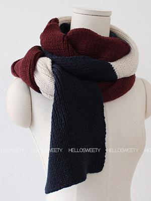 炖配色围巾