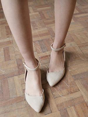 郁金香条/ bunsaber平底鞋(2厘米)(40%折扣)