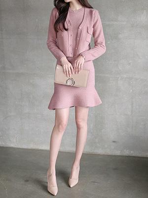 珍妮针织衫连衣裙套装