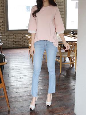 反曲弓靴型裤短裤(S,M,L)