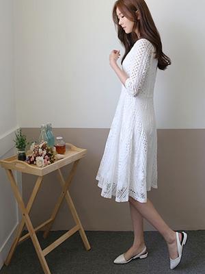 Yoona蕾丝连衣裙(20%OFF)