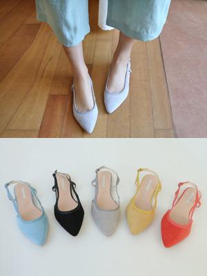 米卡染色腿皮鞋(1厘米)(30%折扣)
