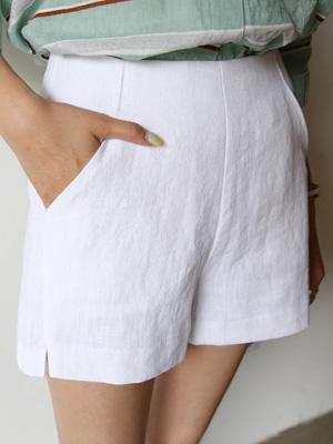 亚麻短裤感
