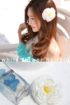 花白色发夹