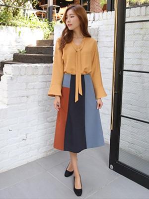 市配色裙子(30%OFF)