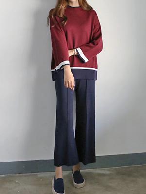 寒蝉针织衫短裤