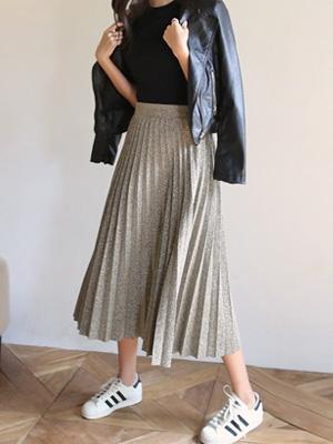 闪光100折裙子(30%OFF)