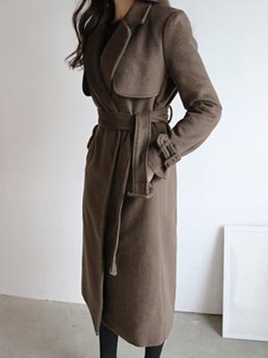 泰晤士长款呢子大衣