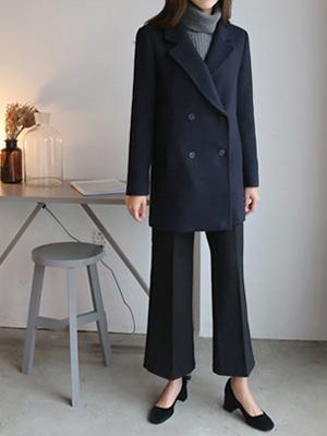 乐尾双呢子大衣