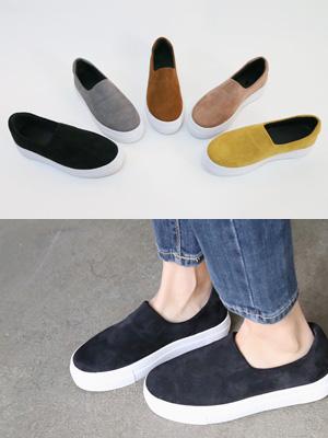 Beaute的增高鞋松紧帆布鞋(3.5厘米)