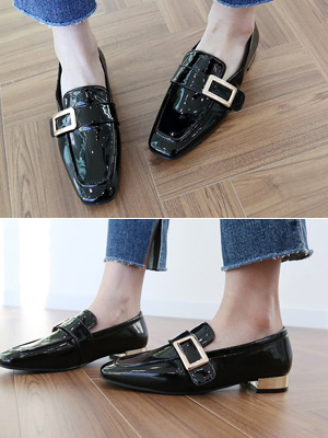Ruzu漆皮包子鞋(2cm)(30%OFF)