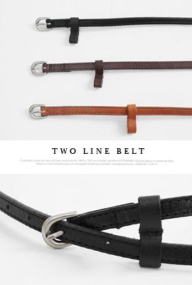 两个线条腰带