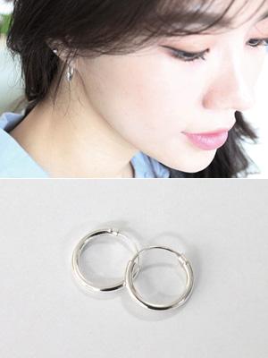 银色锡圆耳环(银色92.5%)