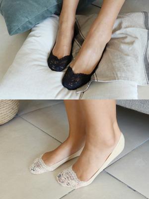 Silicon的蕾丝胶底帆布鞋(1 + 1)