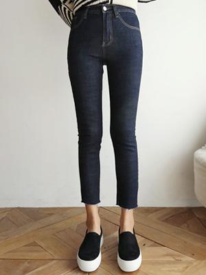 深蓝色加绒锥形短裤(S-XXL)