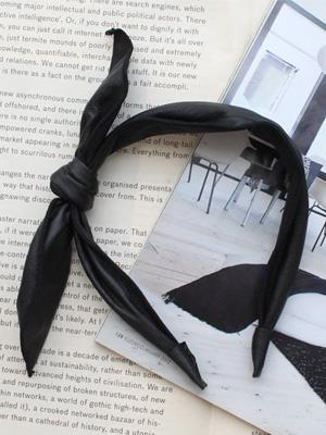 皮革蝴蝶结发带