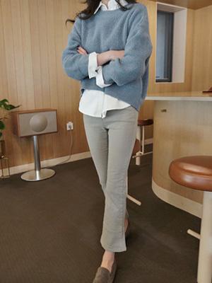 牛加绒鞋型裤短(30%OFF)