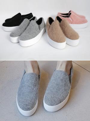 安哥拉增高鞋松紧帆布鞋(4厘米),