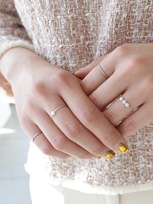 小珍珠戒指套装