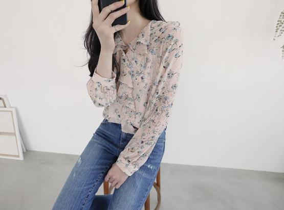 环花女衬衫