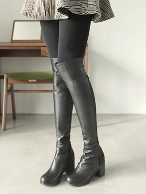高张力长款靴子(6厘米)(35%OFF)