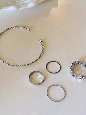 Rurin镯子戒指套装