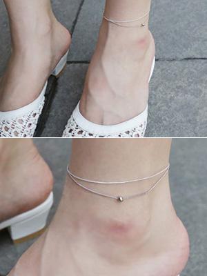 Diro银色脚链