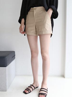 卡布拉条纹短裤