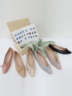 젠蝶蝴蝶结平底羽绒鞋(1cm)