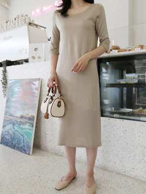 Jess Square Neck针织衫连衣裙