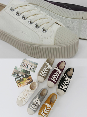 Soli胶底帆布鞋(3cm)