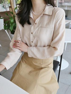Luid绸缎女衬衫