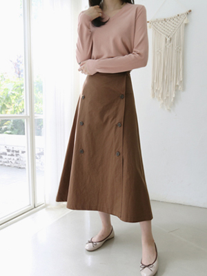 扣扣扣波组/喇叭裙裙子