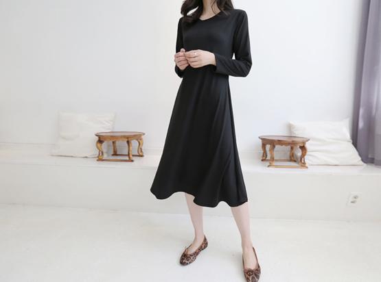 长袖商城波浪组/喇叭裙连衣裙