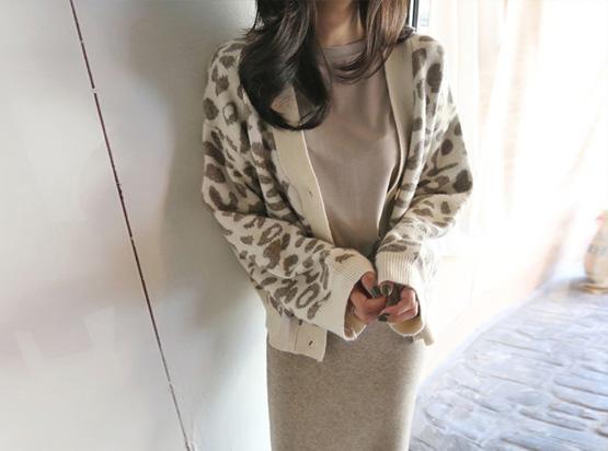 Baring豹纹开衫