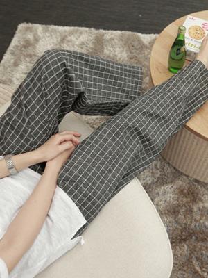 网格情侣睡衣