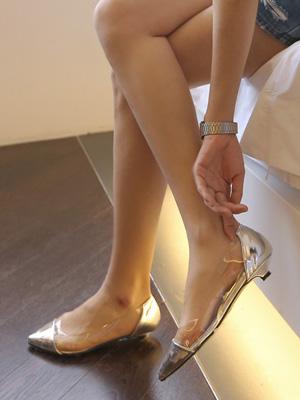 正弦透明平底鞋(2cm)(30%OFF)