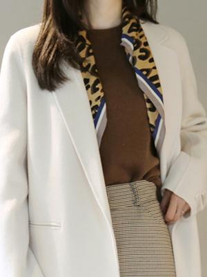 比尔豹纹印花围巾