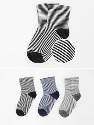 休闲裤条纹袜子(2 + 1)
