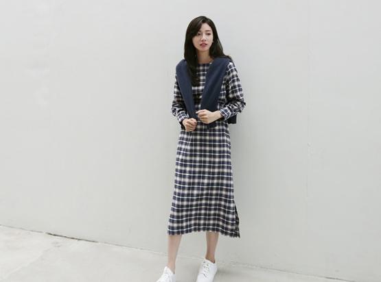 胖乎乎的格子衣衣裙(30%折扣)