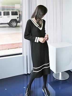 Harvard V character领针织衣衣裙