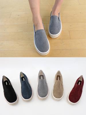 西蒙斯翻毛皮松紧帆布鞋(3厘米)