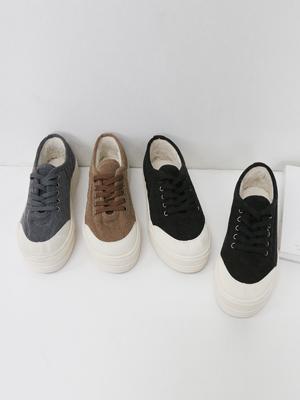 素林灯芯绒胶底帆布鞋(4cm)