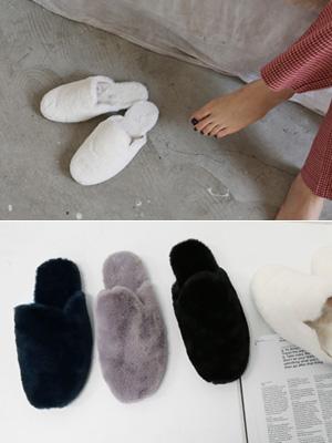 몽毛皮草拖鞋(1cm)