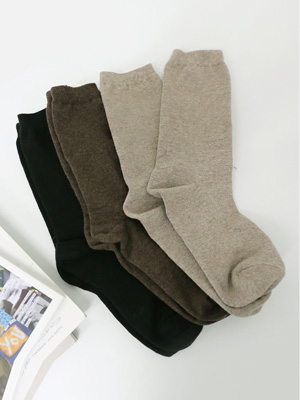 葡萄糖色袜子(3件套)