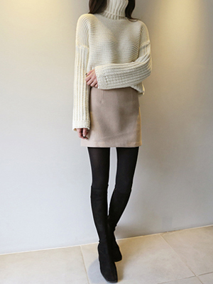 Classico wool迷你裙子