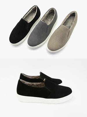 羊毛衬里松紧帆布鞋(3cm)