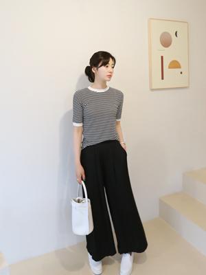 亚洲条纹针织衫
