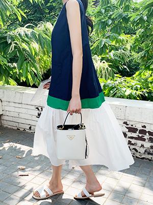 块色方袖袖衣衣裙