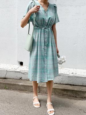 业余格子衣衣裙